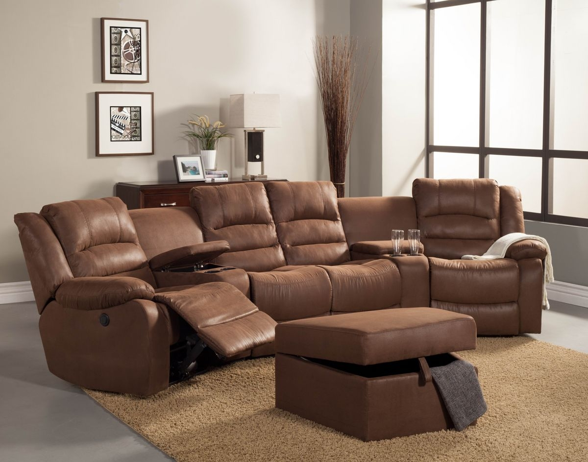 Curved Sectional Recliner Sofas Tourdecarroll Intended For Curved Sectional Sofa With Recliner (Image 1 of 15)