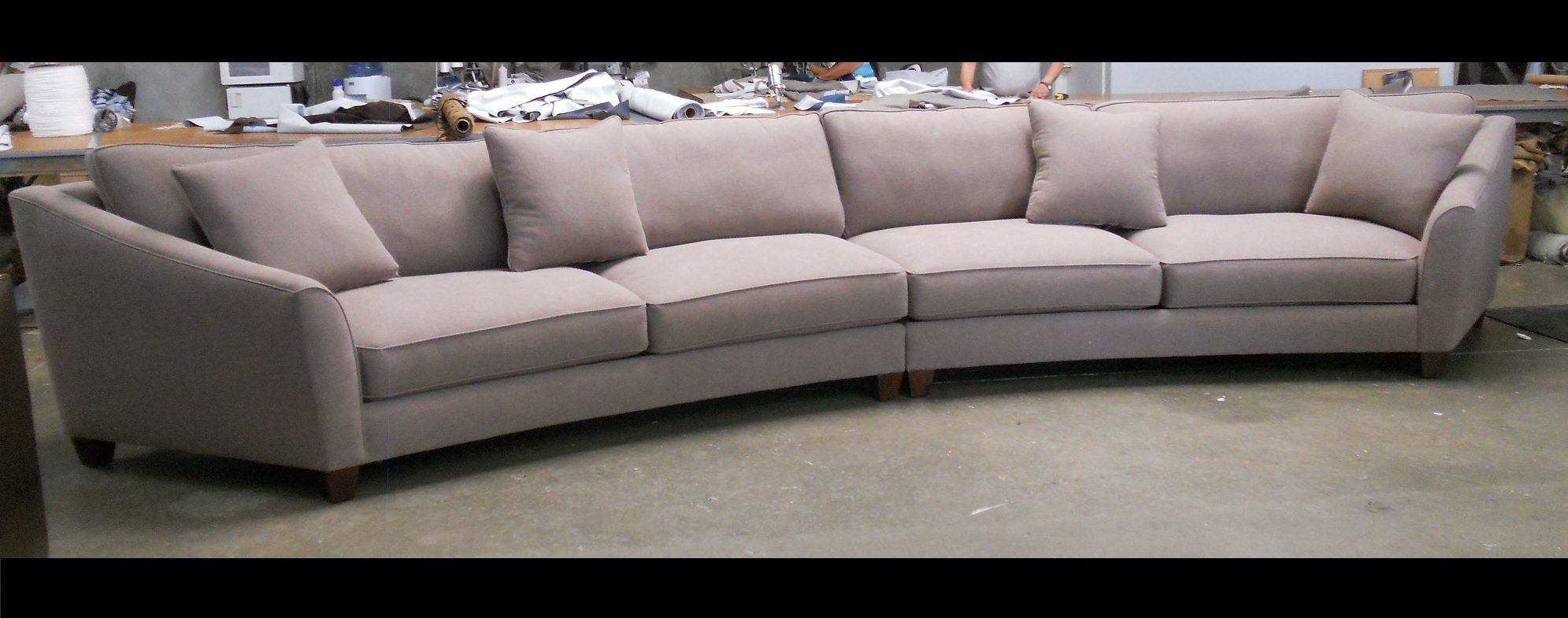 Curved Sectional Sofa Set Rich Comfortable Upholstered Fabric With Contemporary Curved Sofas (View 8 of 15)
