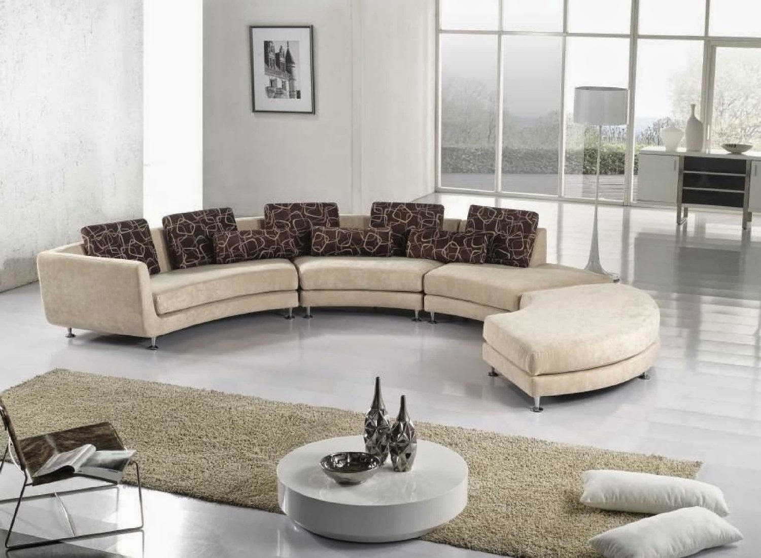 Curved Sofa Curved Sectional Sofa For Contemporary Curved Sofas (Image 6 of 15)