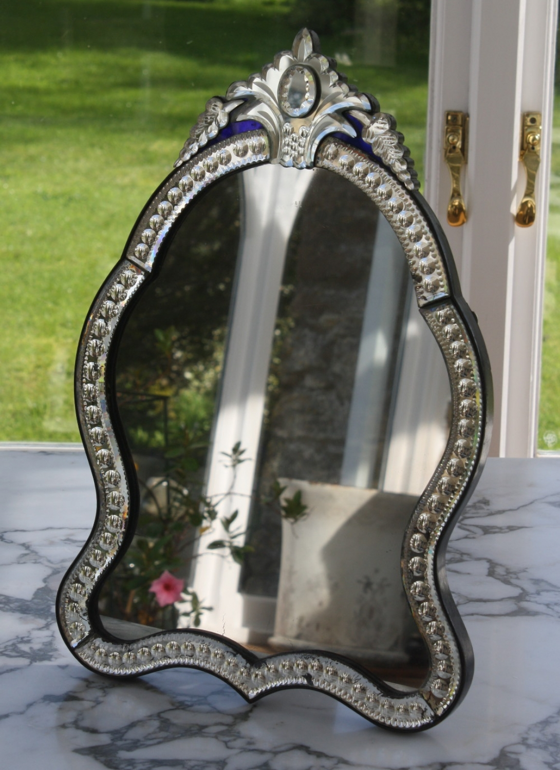 Curvy Table Top Venetian Mirror Pertaining To Venetian Table Mirror (Image 4 of 15)