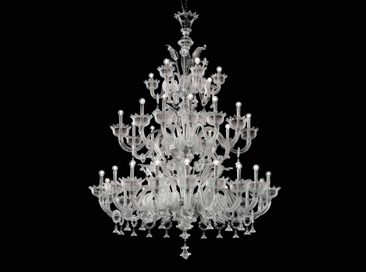 Custom Lighting Murano Glass Chandelier Venetian Ideas Glass With Regard To Murano Chandelier (Image 4 of 15)