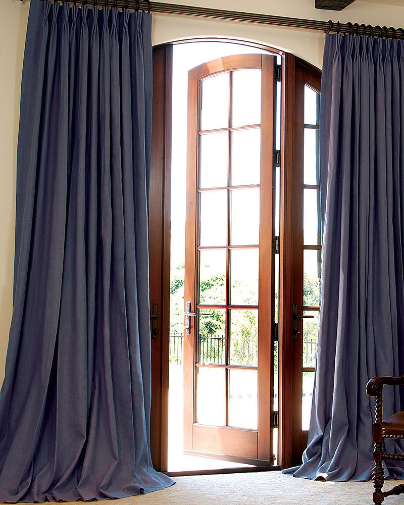 Custom Linen Drapes Drapestyle In Heavy Linen Drapes (Image 7 of 15)