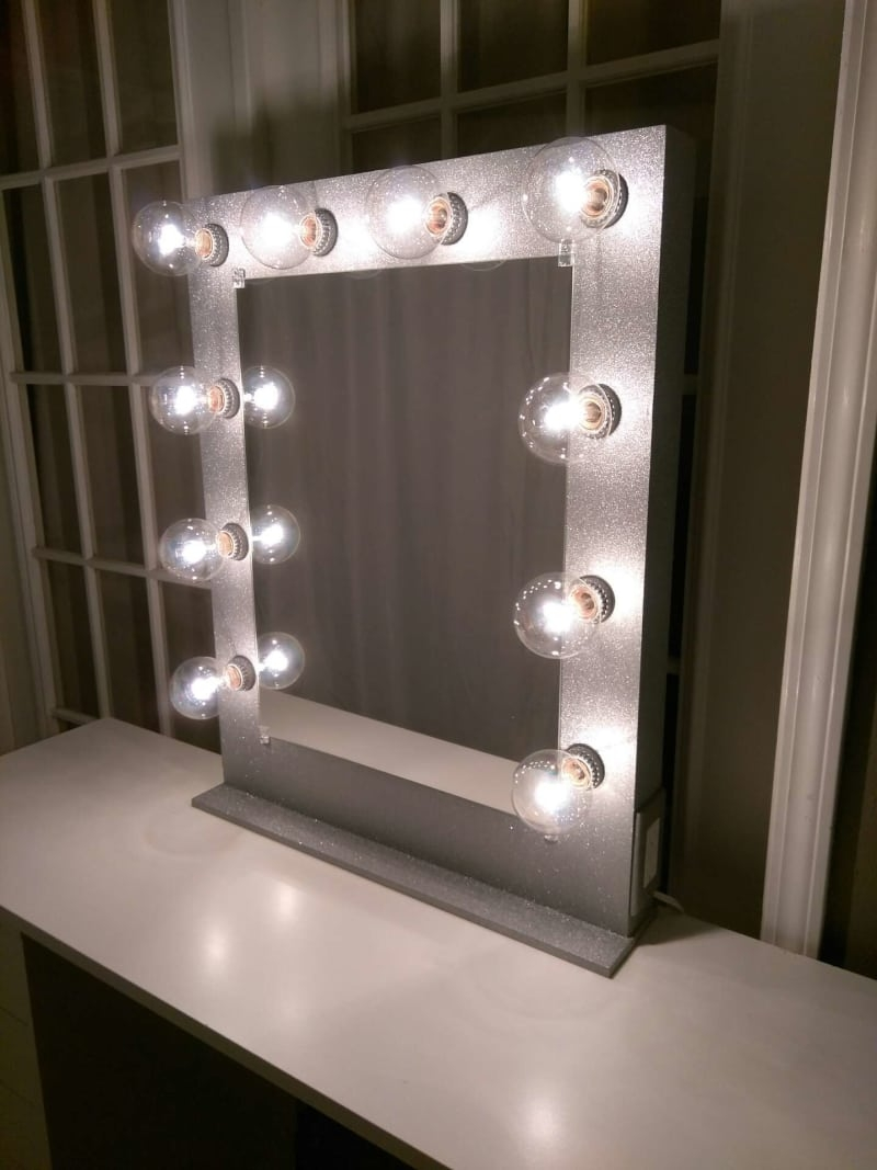 Custom Silver Glitter Vanity Mirror For Sale In Fort Worth Tx With Silver Glitter Mirror (Image 4 of 15)