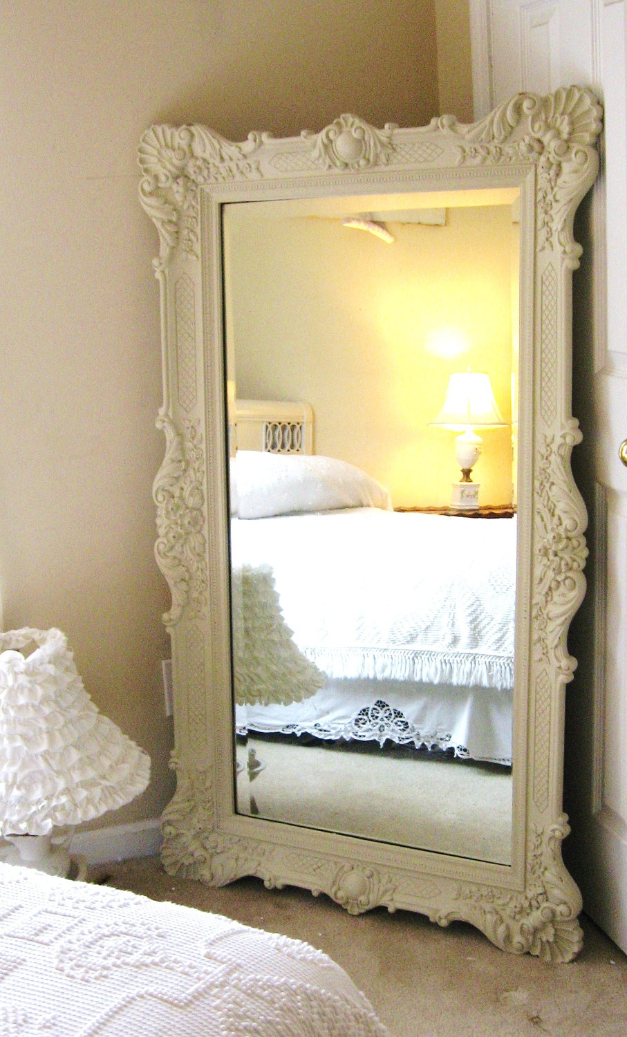 D R E S S I N G Mirror Vintage Leaning Mirror Floor Mirror With Antique French Floor Mirror (Image 8 of 15)