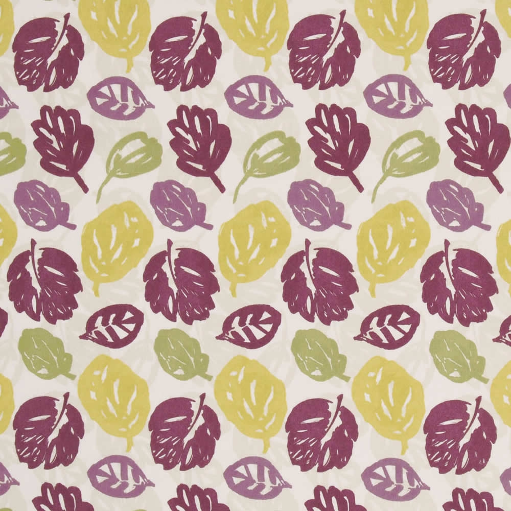 Damson Yellow Green Beige Contemporary Leaf Pattern Roman Blinds In Yellow Roman Blinds (Image 9 of 15)