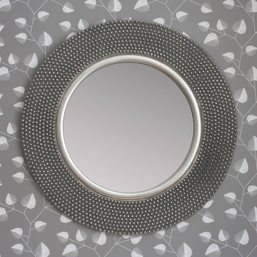 Dante Round Silver Mirror Decorative Mirrors Online Intended For Round Silver Mirror (View 4 of 15)
