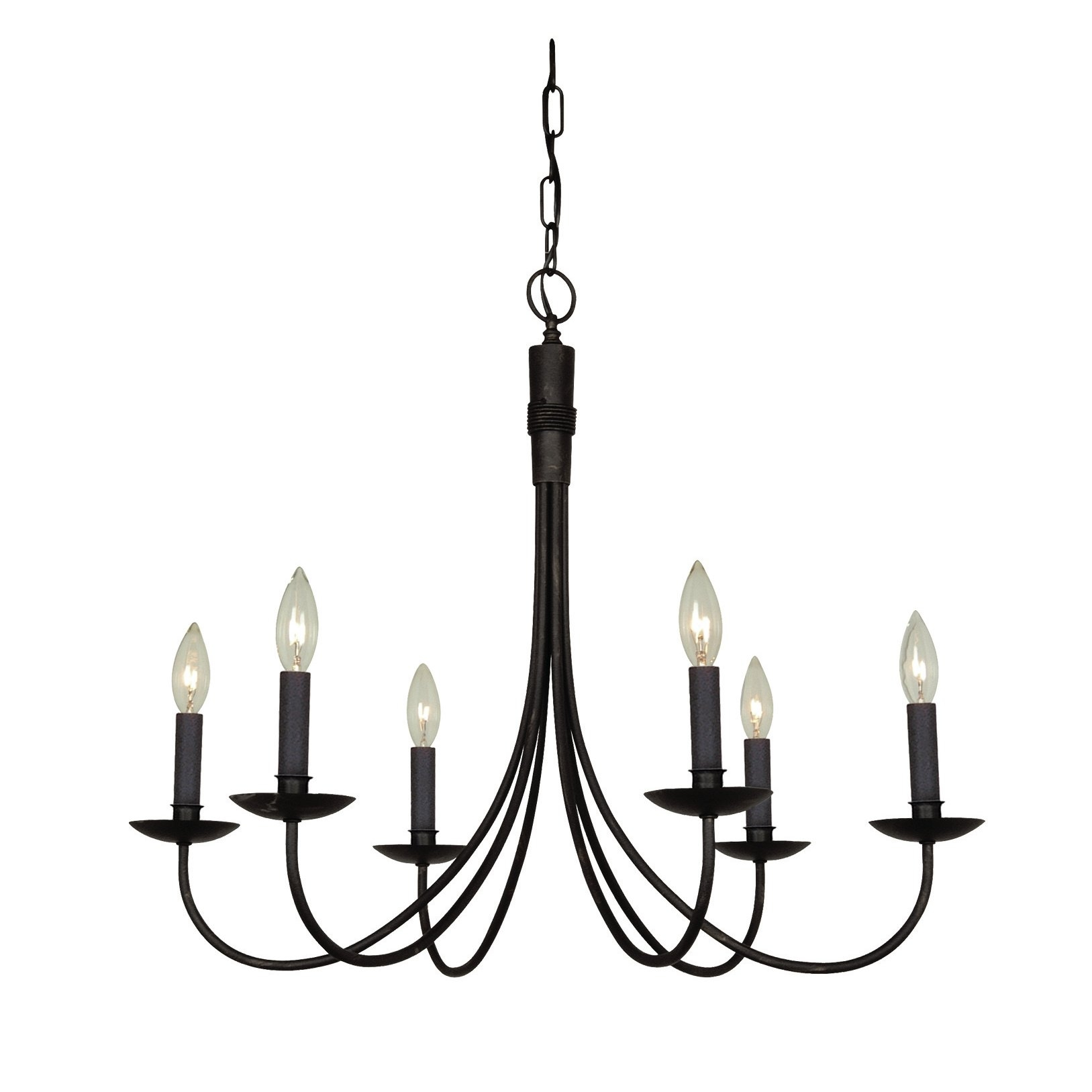 Dar Home Co Gavin 6 Light Candle Style Chandelier Reviews With Regard To Candle Light Chandelier (Image 8 of 15)