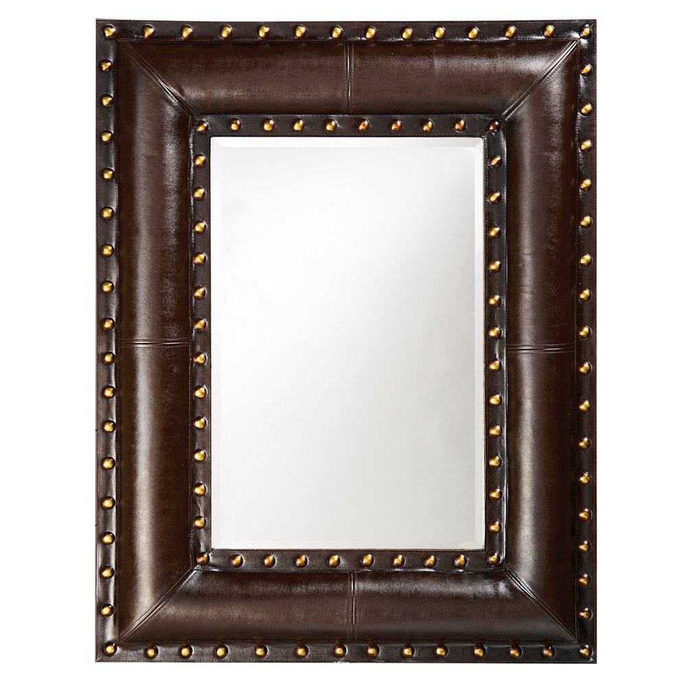 Dar Home Co Rectangle Brown Leather Mirror Reviews Wayfair Throughout Leather Mirror (View 4 of 15)