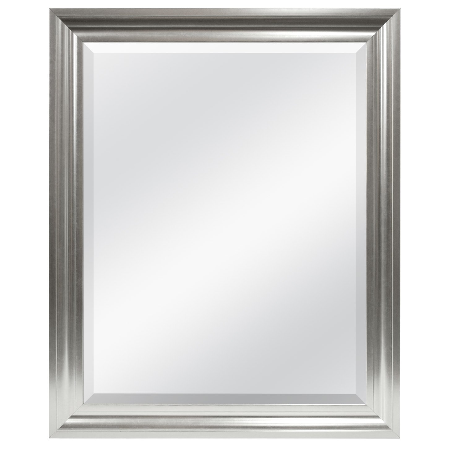 Dar Home Co Rectangle Plastic Beveled Wall Mirror Reviews For Double Bevelled Mirror (Image 3 of 15)