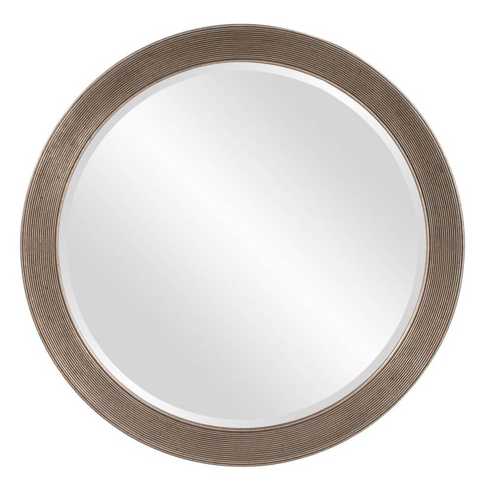 Dar Home Co Round Antique Silver Leaf Mirror Reviews Wayfair With Regard To Round Antique Mirror (Image 3 of 15)