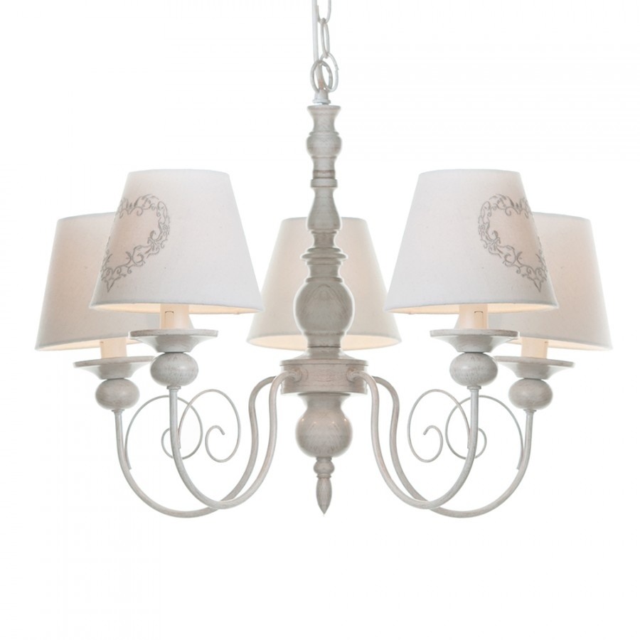 Darcy 5 Light Dual Mount Chandelier Cream From Litecraft In Cream Chandeliers (Image 7 of 15)