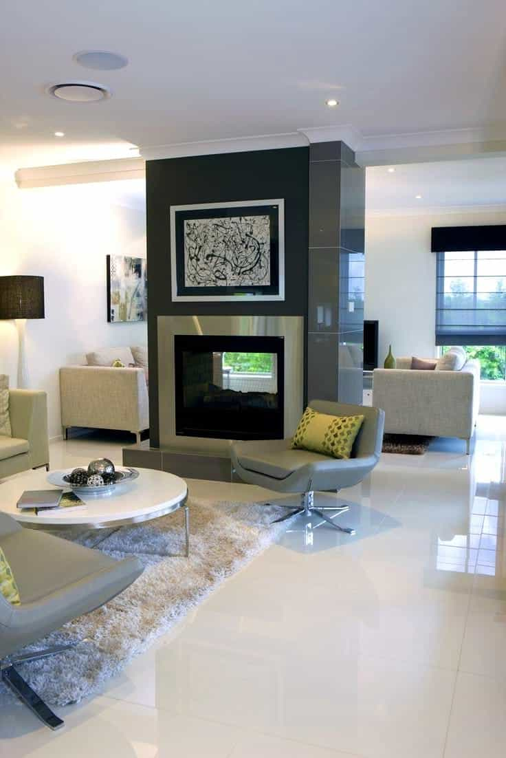 Featured Image of Dark Ceramic Wall Tiles For Contemporary Living Room