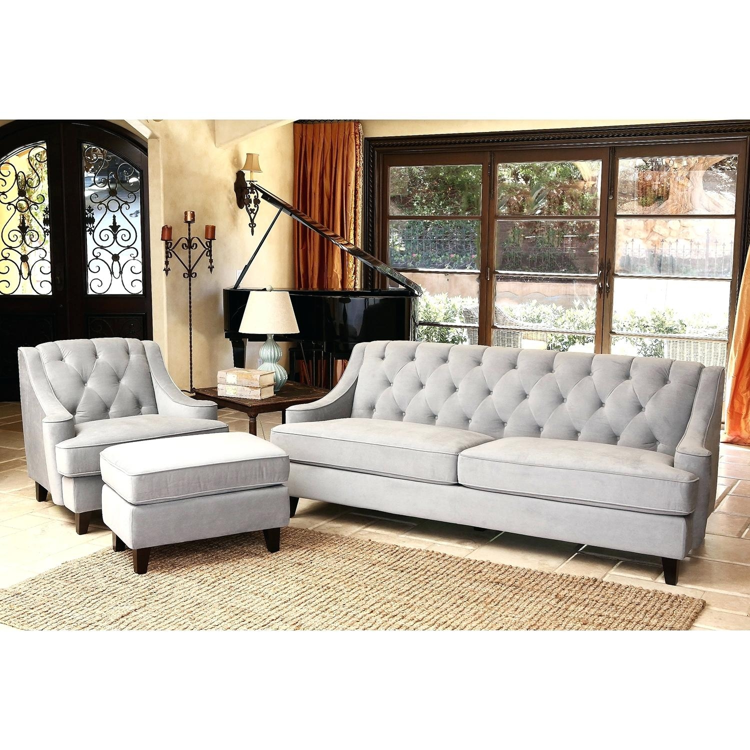 Dark Gray Ottoman Abson Living Ci D107 Crm Bailey Sectional Sofa With Regard To Abbyson Living Charlotte Dark Brown Sectional Sofa And Ottoman (Image 11 of 15)