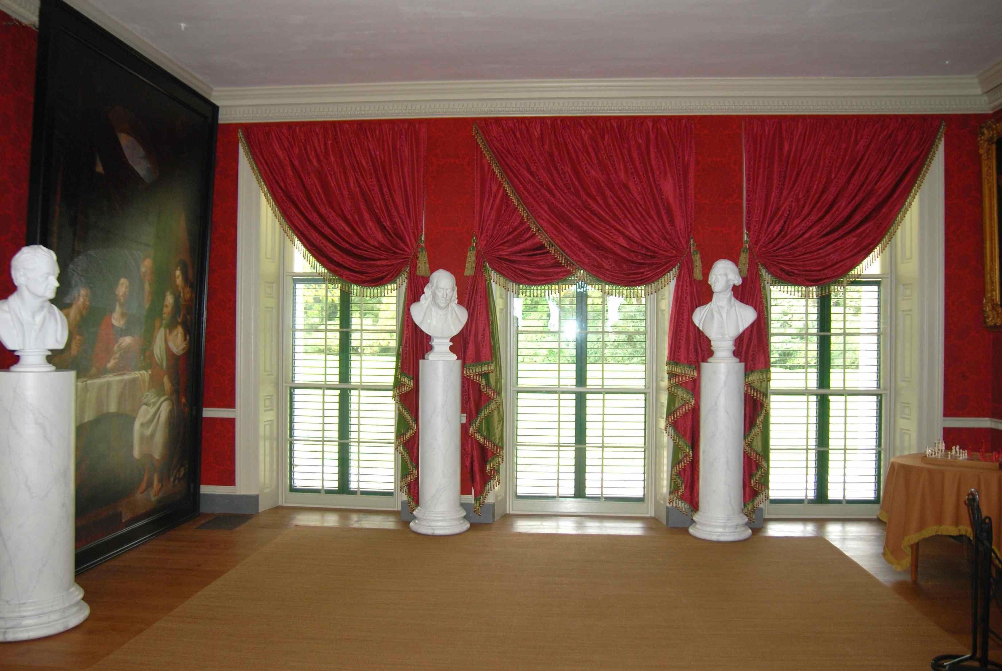 Dark Red Velvet Curtains Within Dark Red Velvet Curtains (Image 9 of 15)