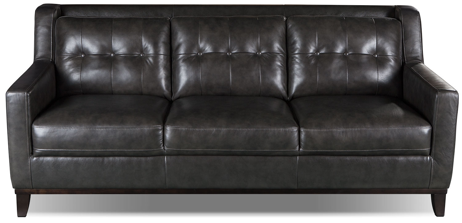 Davina Genuine Leather Sofa Smoke The Brick Home Inspiration Inside Brick Sofas (Image 6 of 15)
