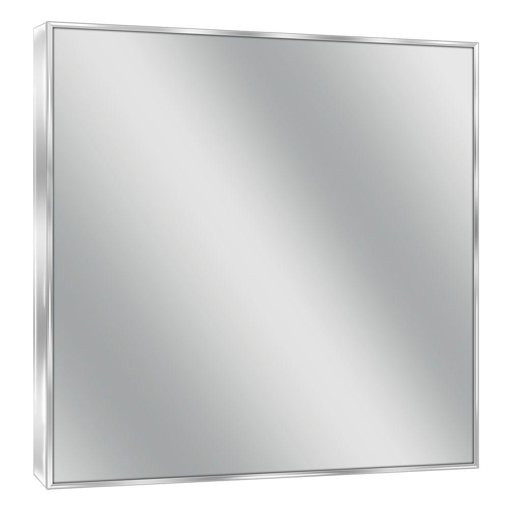 Deco Mirror 30 In W X 36 In H Spectrum Metal Single Framed Intended For Chrome Framed Mirror (View 2 of 15)