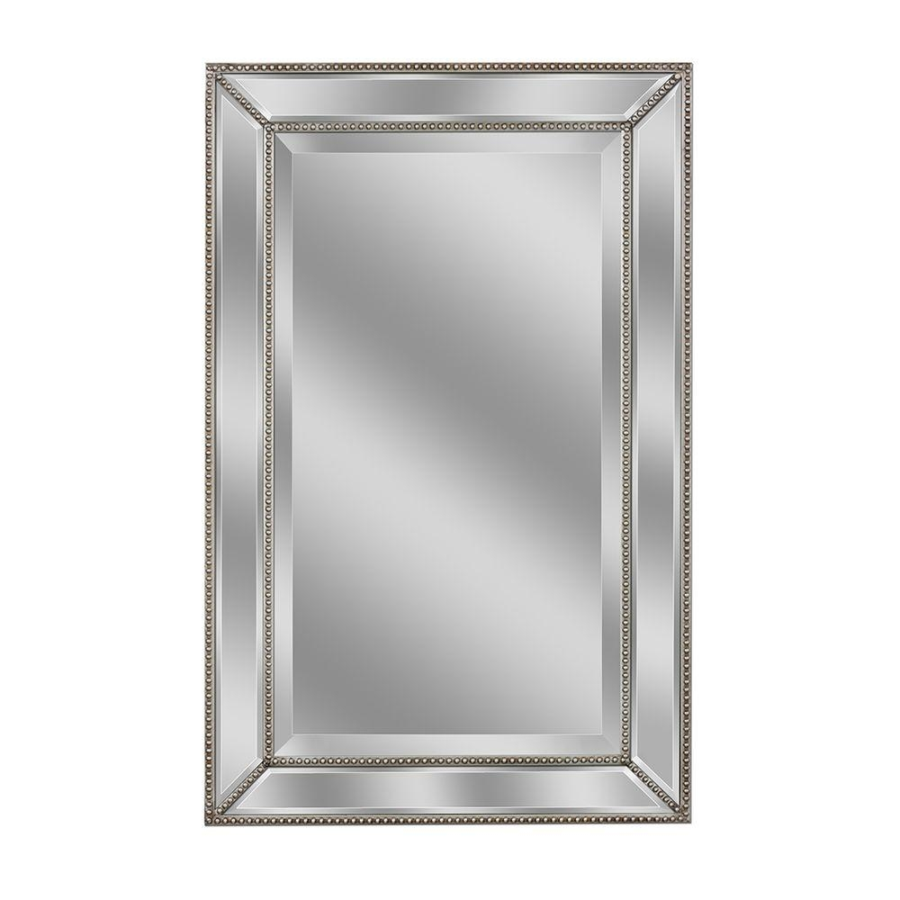 Deco Mirror 36 In L X 24 In W Metro Beaded Single Mirror In Pertaining To Deco Mirrors (Image 12 of 15)