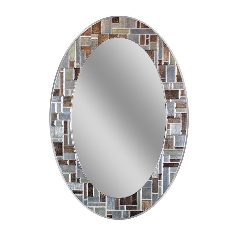 Deco Mirror Mirrors Wall Decor The Home Depot With Regard To Oval Mirrors For Walls (Image 3 of 15)