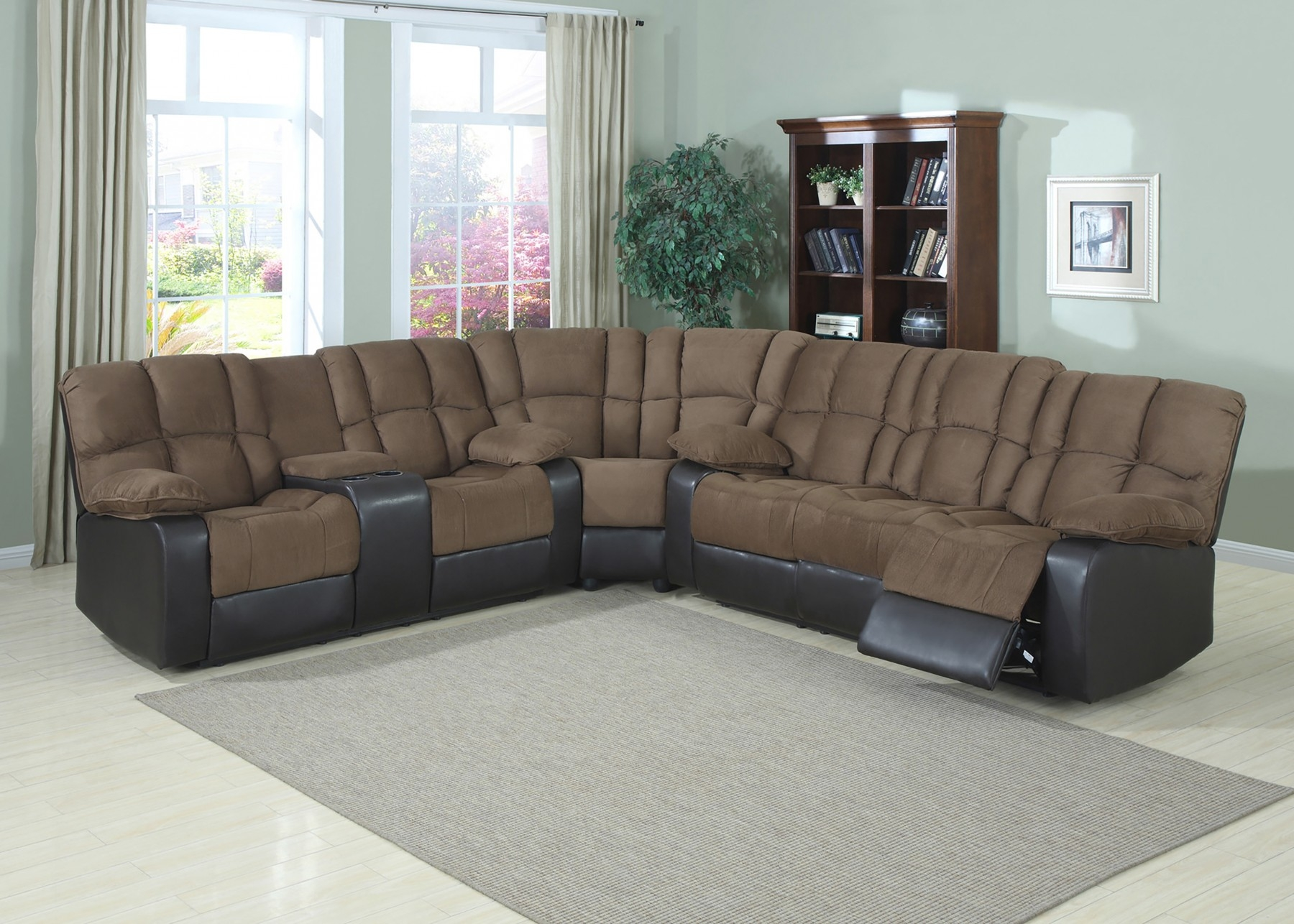 Decor Artificial Classic Corduroy Sectional Sofa For Unique Throughout Extra Wide Sectional Sofas (View 6 of 15)