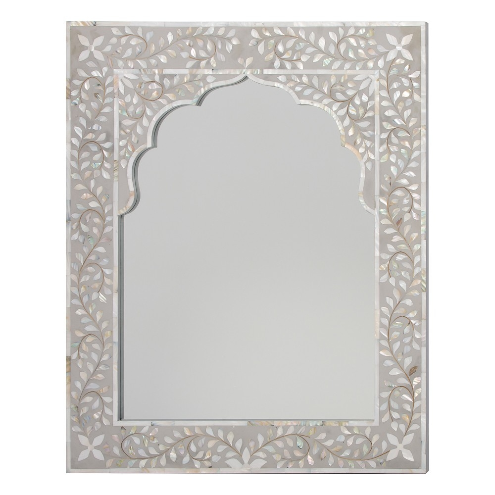 Decor Home Decoration With Wall Mirror In Mother Of Pearl Mirror Inside Mother Of Pearl Wall Mirror (View 5 of 15)