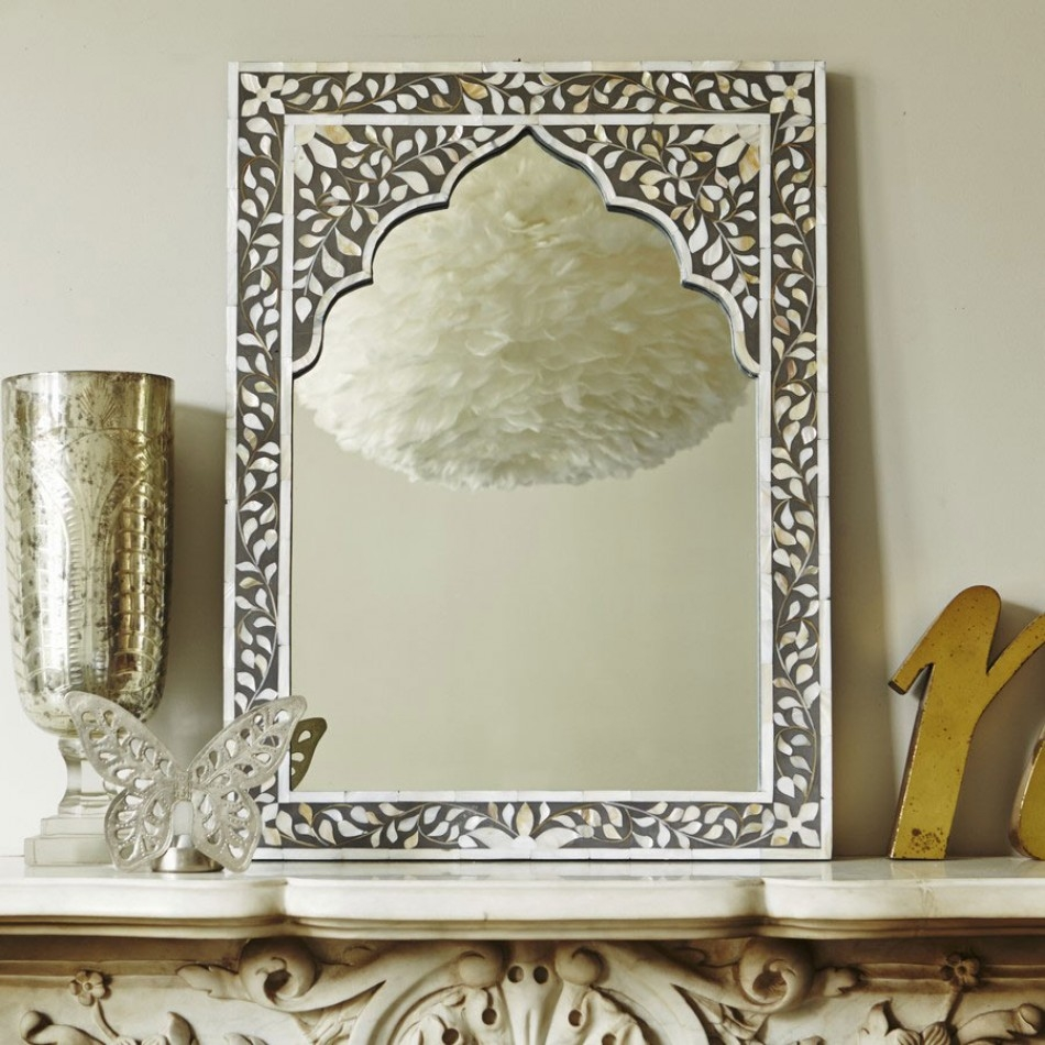 Decor Home Decoration With Wall Mirror In Mother Of Pearl Mirror With Regard To Mother Of Pearl Wall Mirror (View 7 of 15)