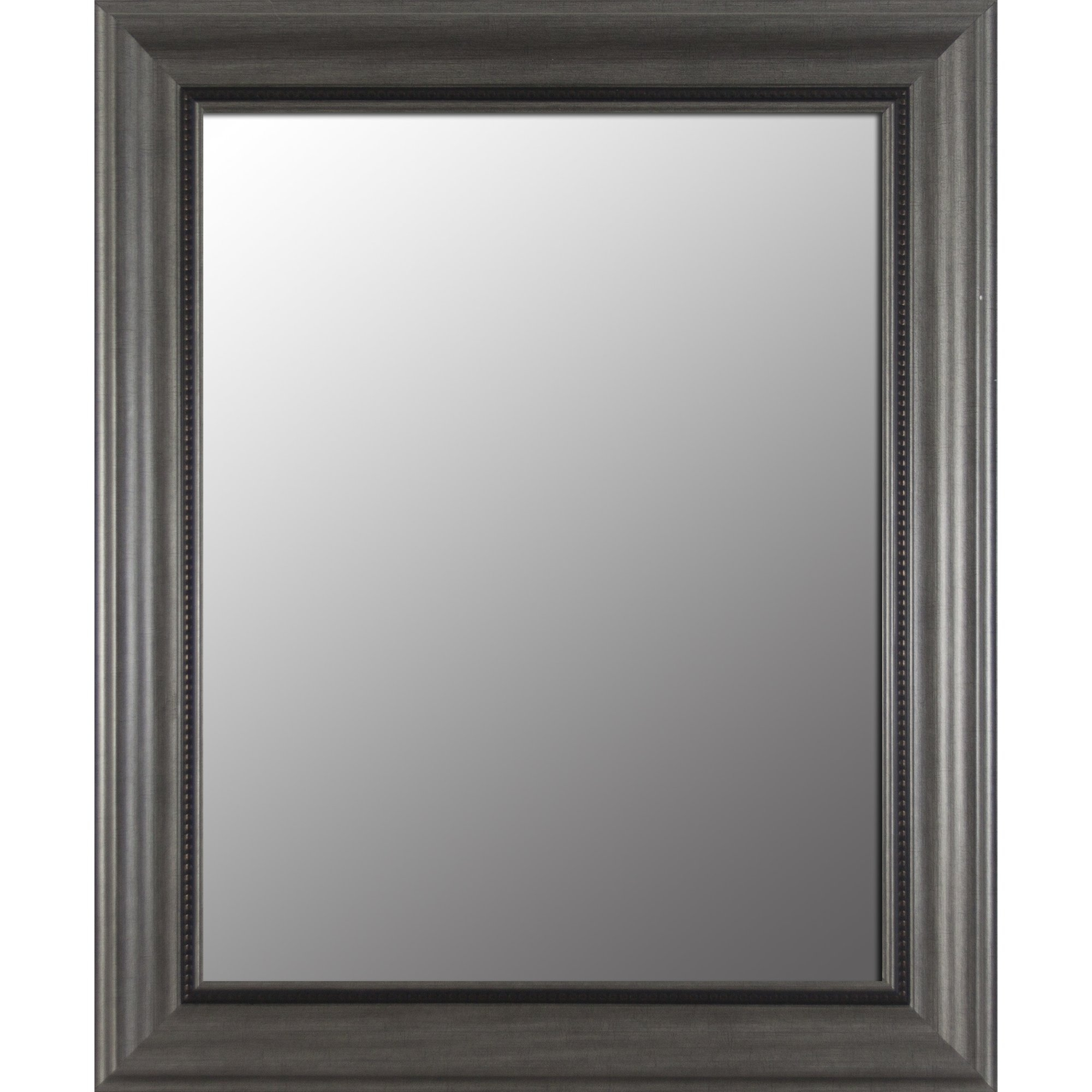 Decor Therapy Pewter Bevel Wall Mirror Reviews Wayfair In Bevel Mirror (Image 8 of 15)