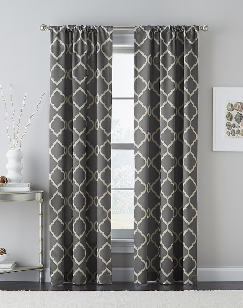 Decor Tips Trellis Grey Light Blocking Curtains With Drape Within Noise And Light Blocking Curtains (View 13 of 15)