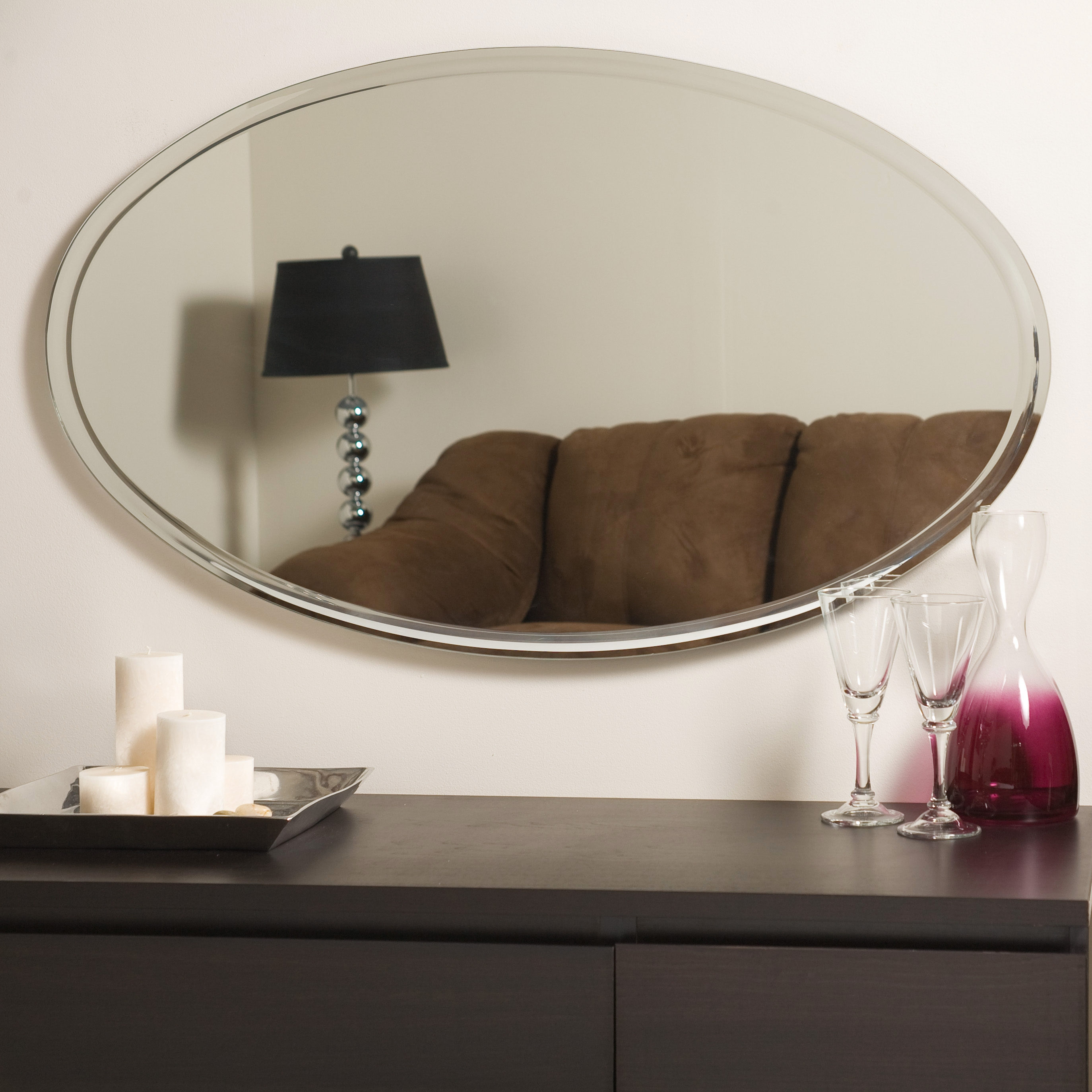 Decor Wonderland Extra Long Oval Wall Mirror Beyond Stores In Long Oval Mirror (View 13 of 15)