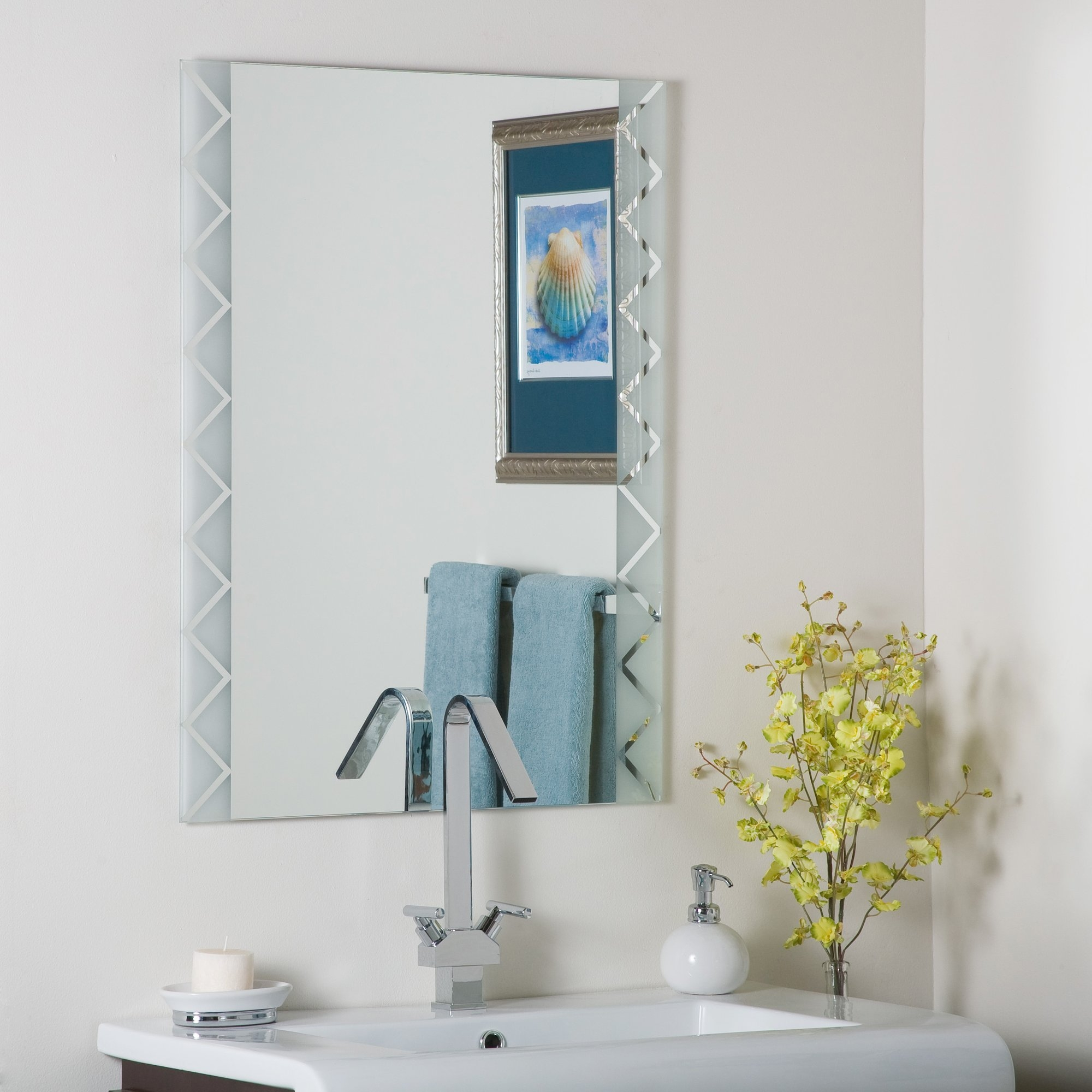 Decor Wonderland Frameless Butterfly Wall Mirror Reviews Wayfair Regarding Butterfly Wall Mirror (Image 6 of 15)