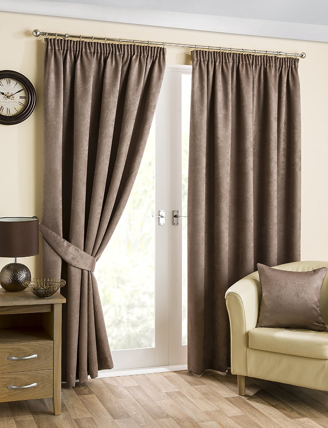 Decorating Elegant Interior Home Decorating Ideas With 108 Pertaining To 100 Inch Drop Curtains (Image 6 of 15)