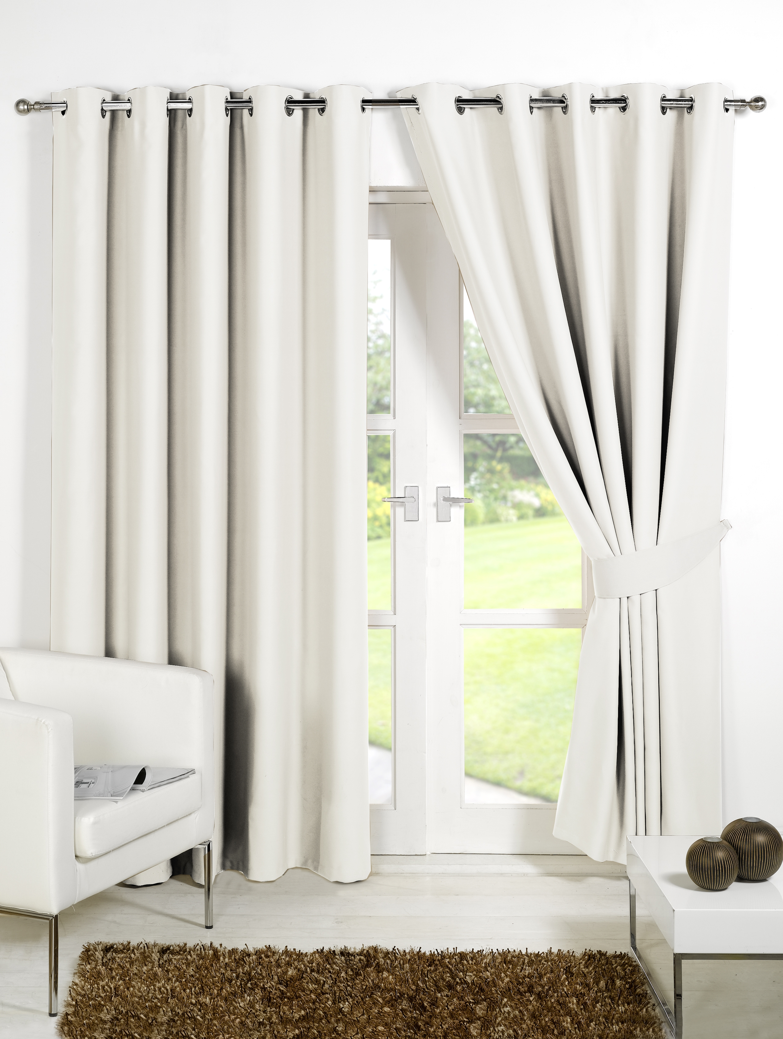Decorating Elegant Interior Home Decorating Ideas With 108 Throughout White Thermal Curtains (Image 6 of 15)