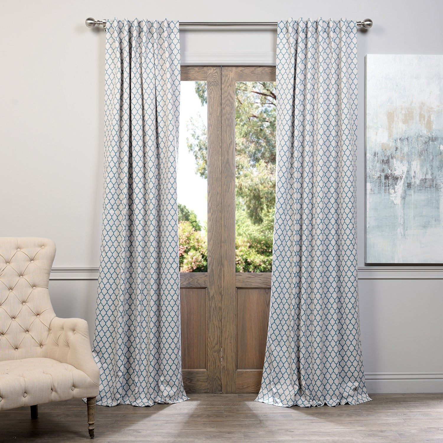 Decorating Elegant Interior Home Decorating Ideas With 108 Within 100 Inch Drop Curtains (Image 8 of 15)