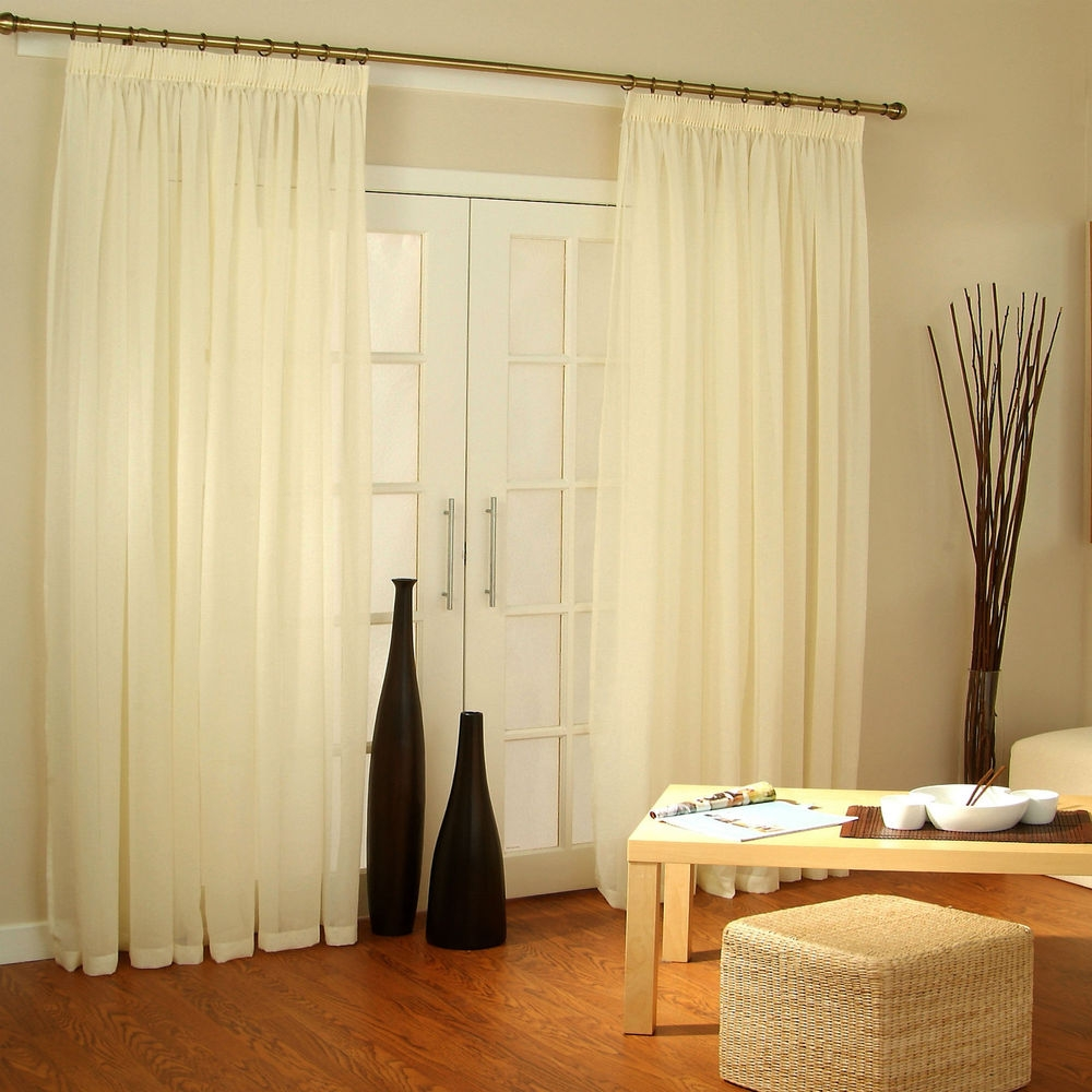 Decorating French Door Curtains For Cute Interior Home Decorating With Regard To Extra Long Door Curtain (Image 6 of 15)
