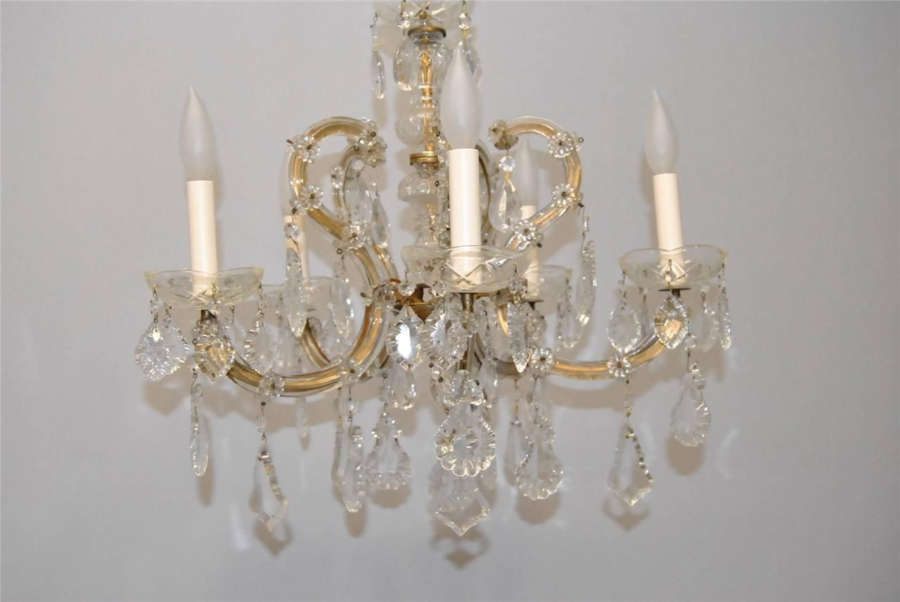 Decorating Ideas Cool Picture Of Luxury Round White Crystal Glass With Regard To Vintage Italian Chandeliers (Image 5 of 15)