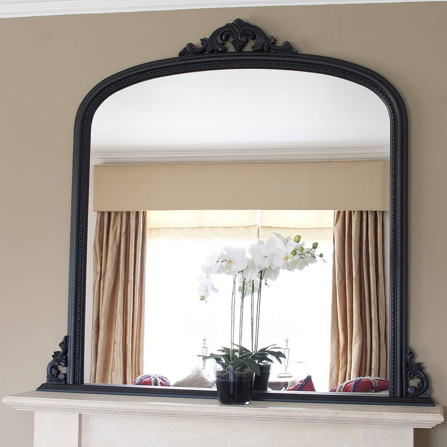 Decoration Decorate Fireplace Using Wall Mirror Ideas Inside Mantlepiece Mirrors (Image 3 of 15)