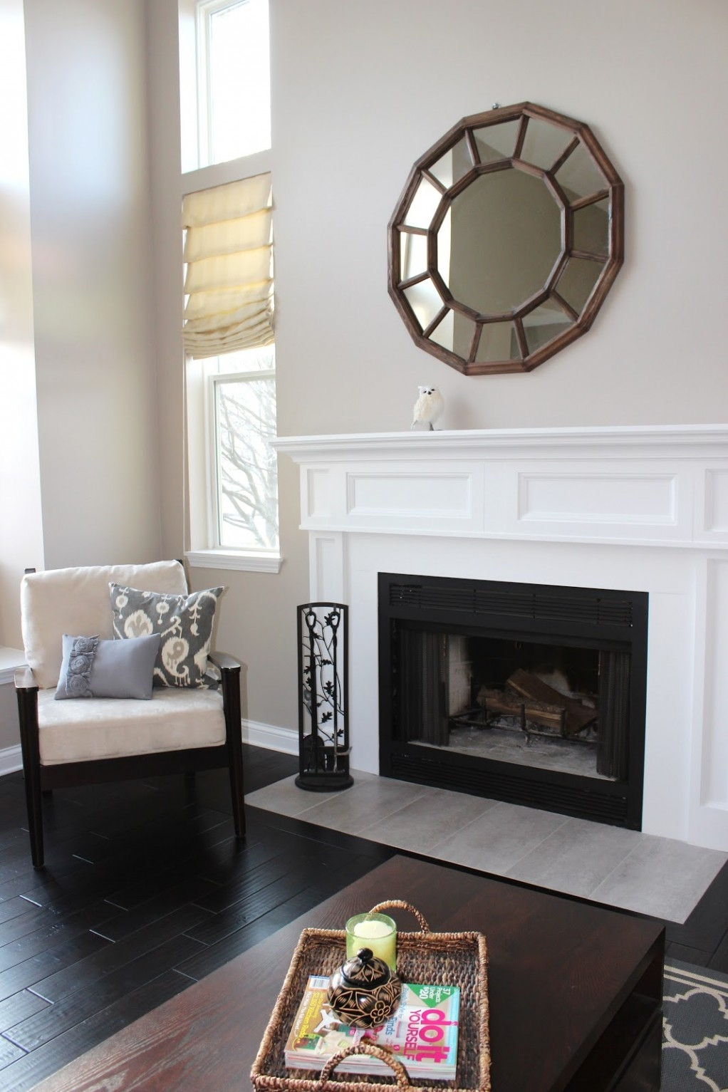 Decoration Decorate Fireplace Using Wall Mirror Ideas Throughout Above Mantel Mirrors (Image 5 of 15)