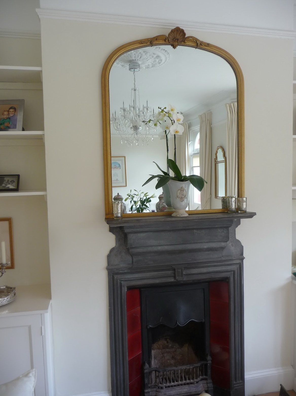 Decoration Decorate Fireplace Using Wall Mirror Ideas Throughout Gold Mantle Mirror (Image 4 of 15)