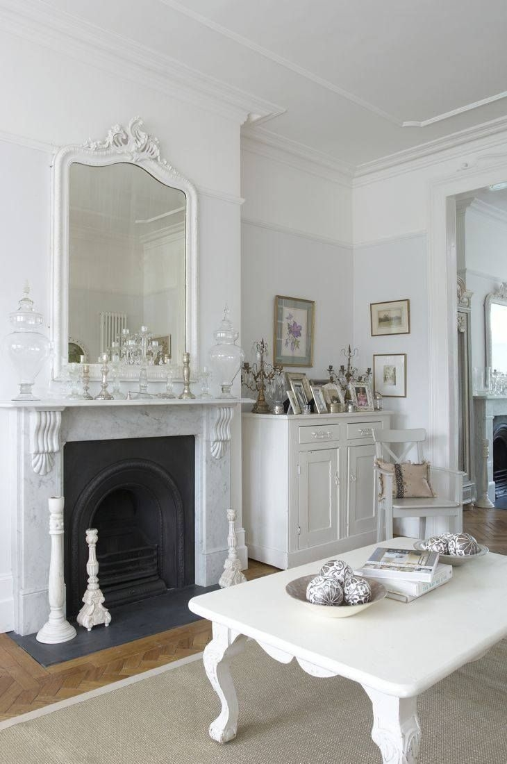 Decoration Decorate Fireplace Using Wall Mirror Ideas With Regard To Large Mantel Mirror (Image 8 of 15)