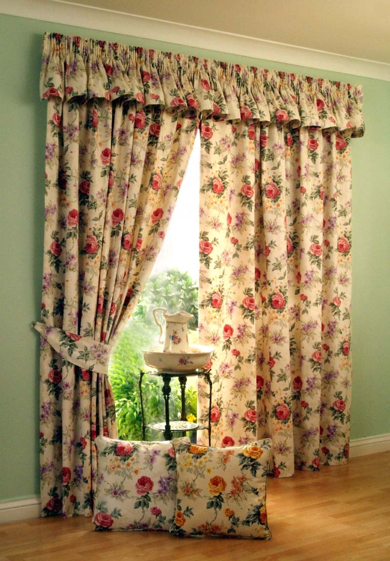 Decoration Flower Motives Pleat Curtain Curtains Rods Lacy For Ready Made Draperies (Image 4 of 15)