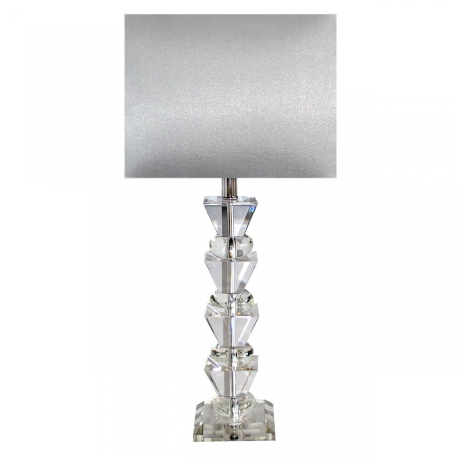 Decoration Ideas Modern Bedroom Table Lamp Using White Drum For Crystal Table Chandeliers (Image 8 of 15)