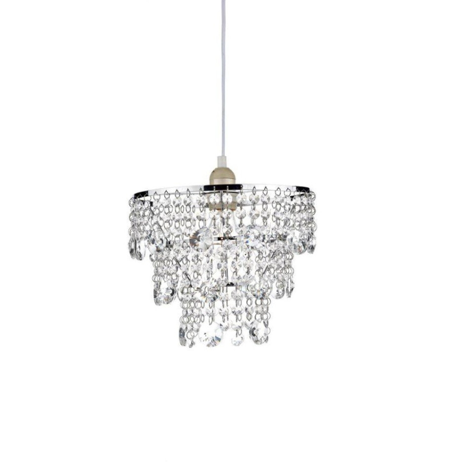 Decoration Ideas Modern Bedroom Table Lamp Using White Drum In Tiny Chandeliers (Image 6 of 15)