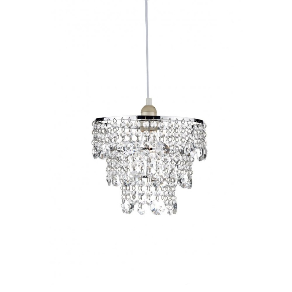 Decoration Ideas Nice Home Accessory Design Of Small White Glass Within Small Glass Chandeliers (Image 7 of 15)