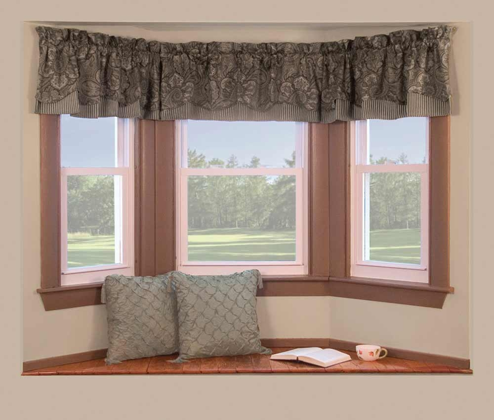Decorations Bay Window Apartment With Black Frame Idea Bay With Curtains For Small Bay Windows (Image 11 of 15)