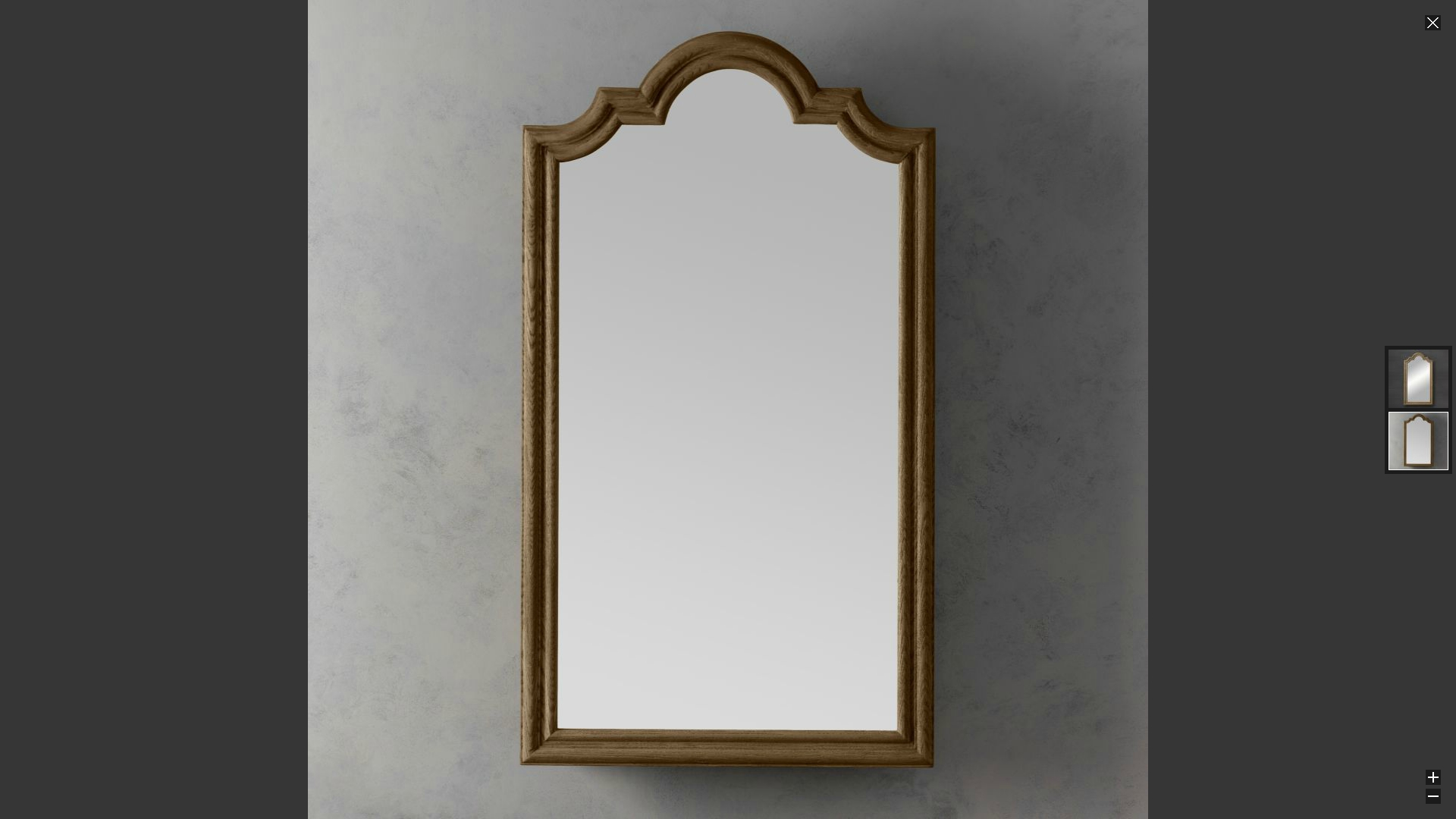 Decorations Restoration Hardware Shower Caddy Rococo Mirror In Rococo Mirrors Cheap (Image 2 of 15)