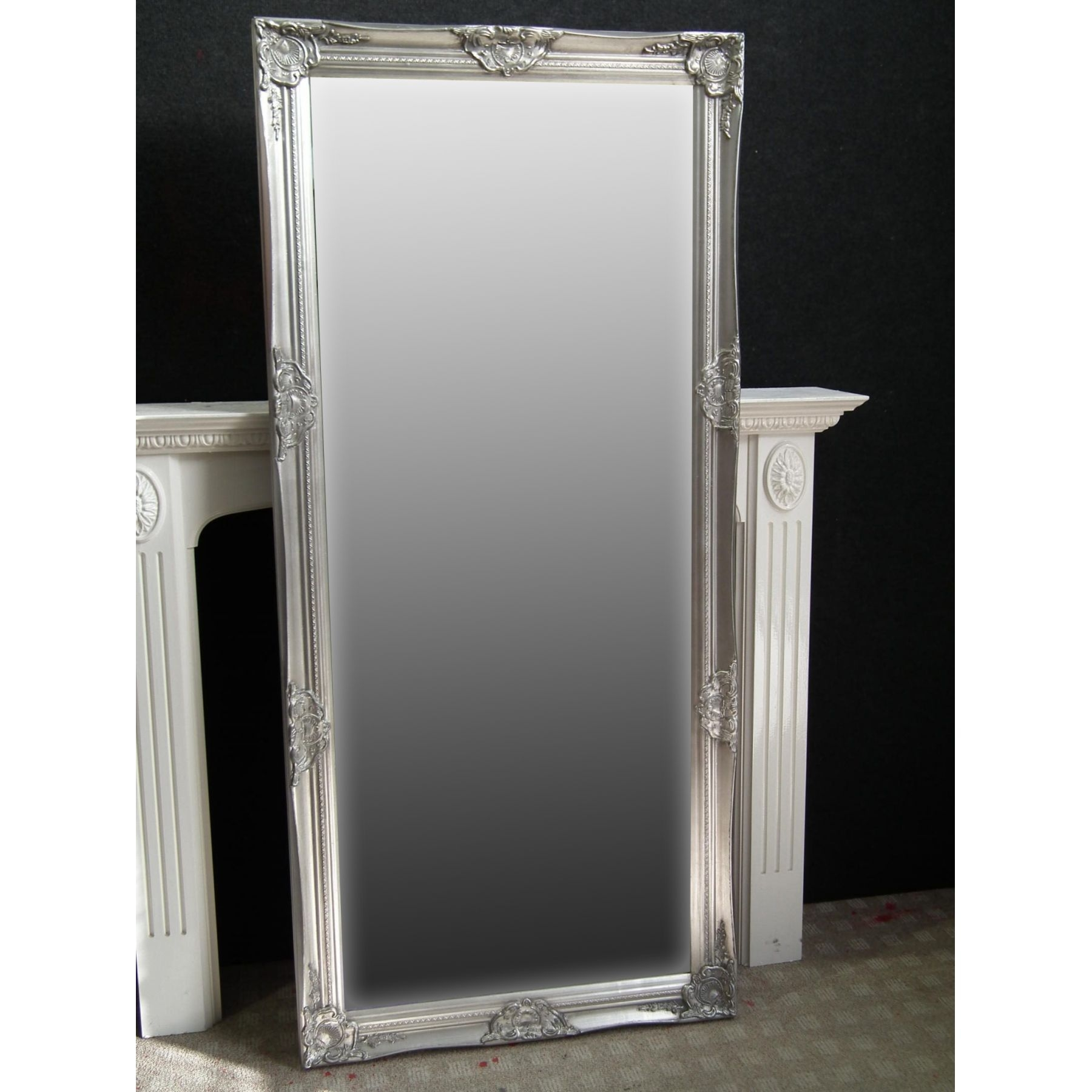 Featured Image of Silver Floor Standing Mirror