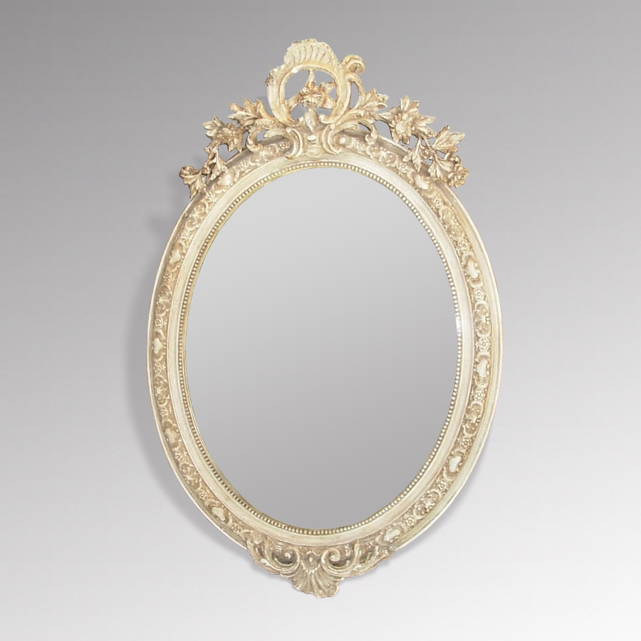 Decorative Antique French Oval Mirror Antique Mirrors Inside French Oval Mirror (Image 9 of 15)