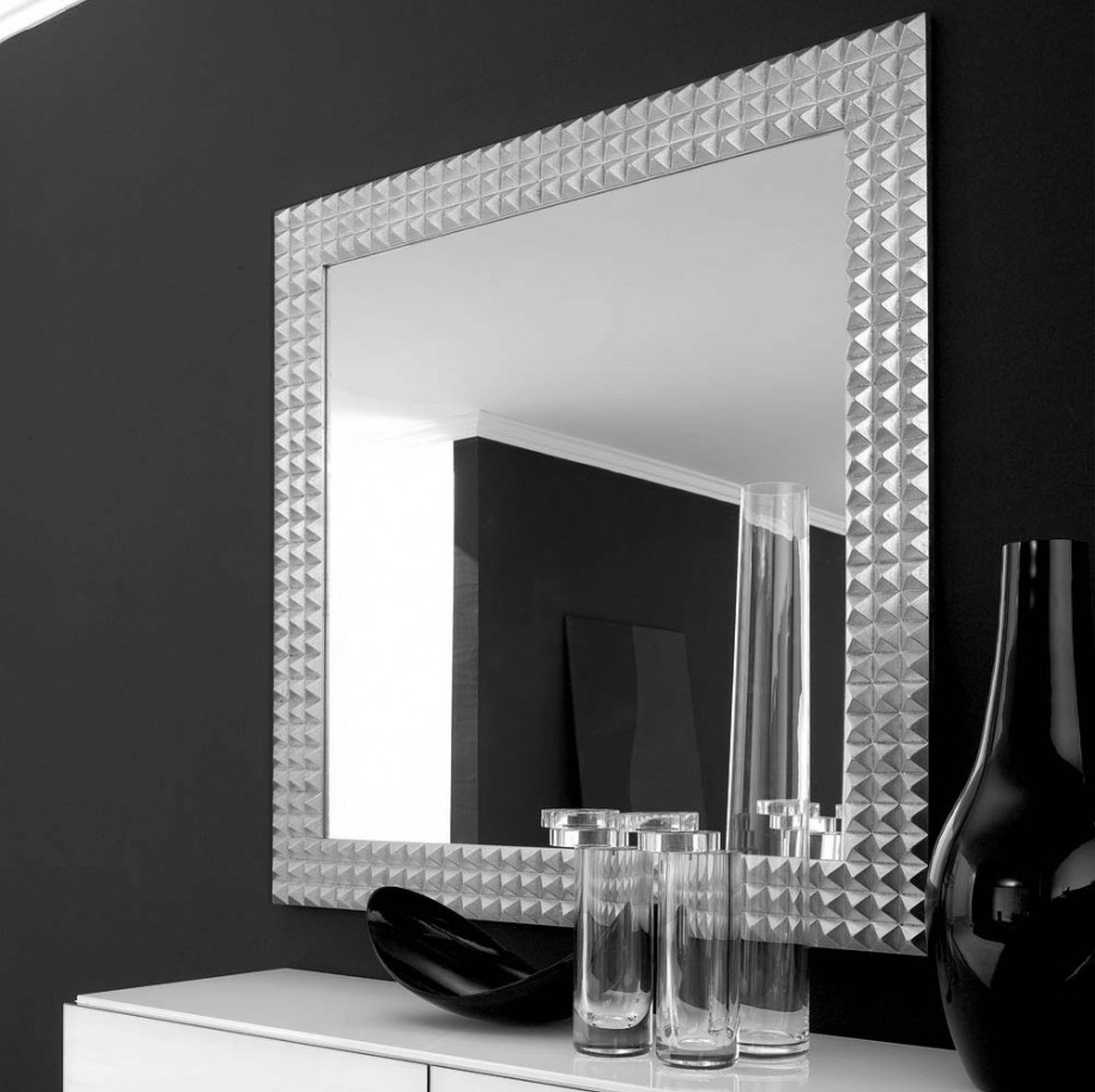 Decorative Large Wall Mirrors Com And Bedroom Interior Square With Regard To Large Square Mirror (View 4 of 15)