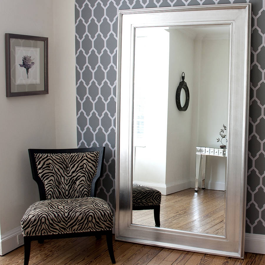Decorative Mirrors Online Products Notonthehighstreet Inside Black Large Mirror (Image 9 of 15)