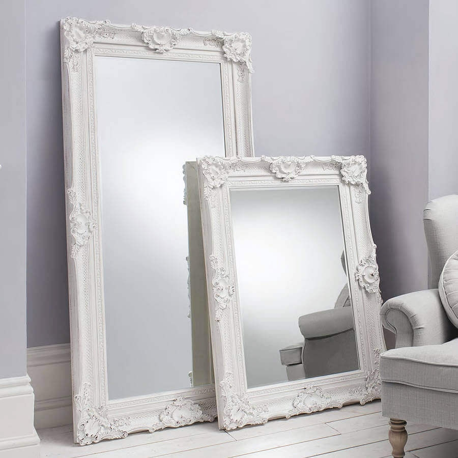 Decorative Ornate Mirrors Wall Vs Floor Which One Better In White Ornate Mirrors (Image 5 of 15)