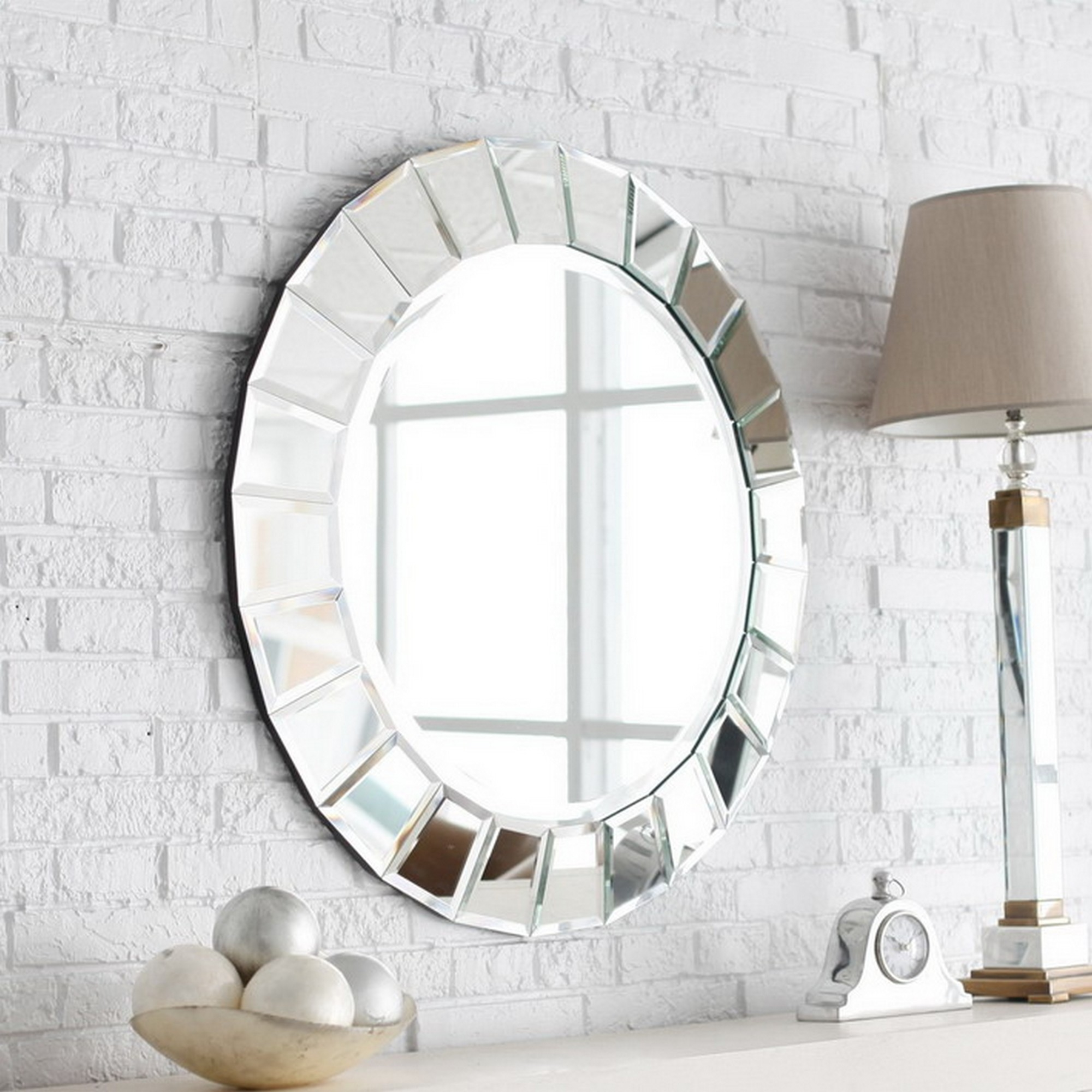 Decorative Round Mirrors For Walls Inarace Throughout Designer Mirrors For Walls (Image 6 of 15)